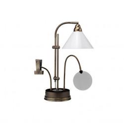 Лупа настольная с гибким держателем d13см-1.75Х с лампой 20Вт с клипсой для схем металл Daylight