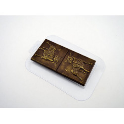Плитка Бык с узорами, пластиковая форма для шоколада 16х8х1,2см вес готового шоколада 104г МФ
