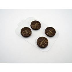 Панацея от короны, пластиковая форма для шоколада d5,5см h1см вес готового шоколада 18г МФ