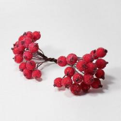 Красный, сахарные ягодки 40шт