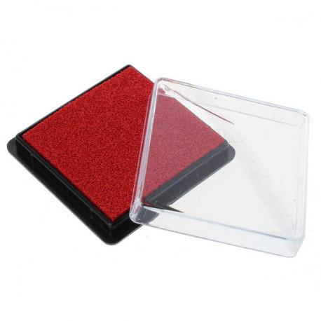 Красный, штемпельая подушка 7,5х4,5см