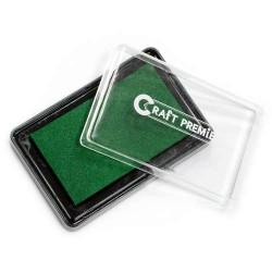 Зеленый, штемпельая подушка 7,5х4,5см