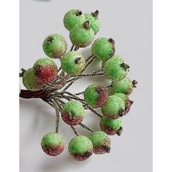 Красно-зеленый №2, сахарные ягодки 40шт