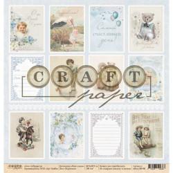 Карточки, коллекция Наш сынок бумага для скрапбукинга односторонняя 30,5x30,5см 190г/м CraftPaper