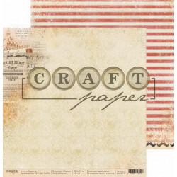 Детектив, коллекция Шерлок бумага для скрапбукинга двусторонняя 30,5x30,5см 190г/м CraftPaper
