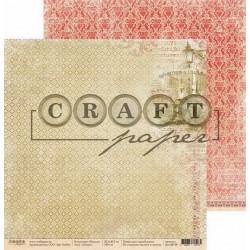Лондон, коллекция Шерлок бумага для скрапбукинга двусторонняя 30,5x30,5см 190г/м CraftPaper