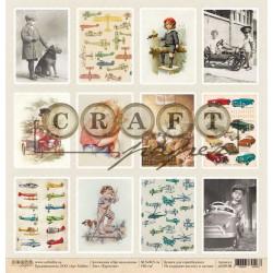 Карточки, коллекция Про мальчиков бумага для скрапбукинга двусторонняя 30,5x30,5см 190г/м CraftPaper