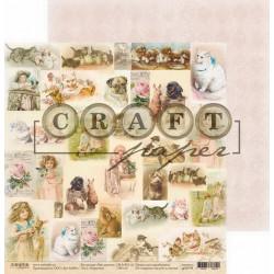 Открытки, коллекция Про девочек бумага для скрапбукинга двусторонняя 30,5x30,5см 190г/м CraftPaper