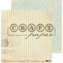 Воздушный шар, коллекция Bon Voyage бумага для скрапбукинга двусторон 30,5x30,5см 190г/м CraftPaper