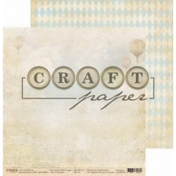 Газетный, коллекция Bon Voyage бумага для скрапбукинга двусторонняя 30,5x30,5см 190г/м CraftPaper