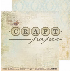 Полёт, коллекция Bon Voyage бумага для скрапбукинга двусторонняя 30,5x30,5см 190г/м CraftPaper