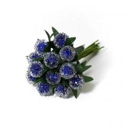 Синий, клюква в сахаре 15мм, 12шт декоративный букетик