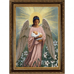 В руках ангела, ткань с рисунком для вышивки бисером 29х39см. Конёк