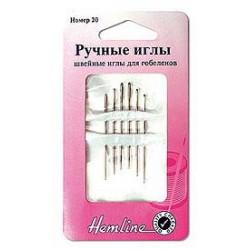 Иглы для вышивания гобеленов №22 6шт сталь Hemline