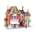 Бутик. Домик Британии пазл 3D,  фанера с нанесенным рисунком 3мм 19.2х11.2х15см 30элементов Rezark