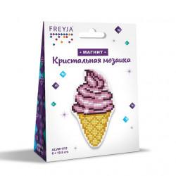 Мороженое, кристальная мозаика магнит 6x10,5см, полное заполнение Фрея