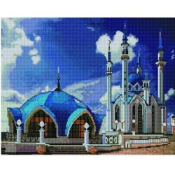 Мечеть Кул-Шариф, алмазная мозаика на подрамнике 40х50см 36цв полная выкладка PO