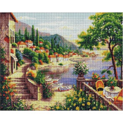 Восточные сады, алмазная мозаика на подрамнике 40х50см 34цв полная выкладка PO