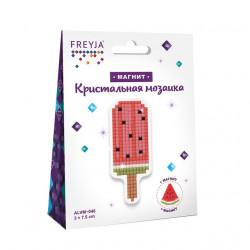 Эскимо, кристальная мозаика магнит 3x7,5см, полное заполнение Фрея