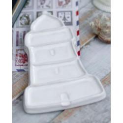Маяк, палитра керамическая 14,5х8,5см 5яч. 1место для кистей вес 105гр LP