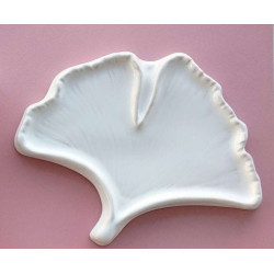 Гинкго, палитра керамическая 16х13,5см 1яч.3места для кистей вес 120гр LP
