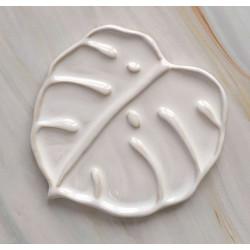 Монстера, палитра керамическая 16х17см 2яч.(9отделений) 9мест для кистей вес 295гр LP