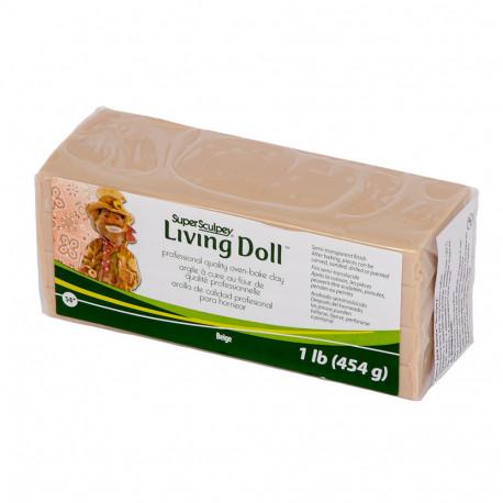 Бежевый, Super Living Doll полимерная глина Sculpey 454 г