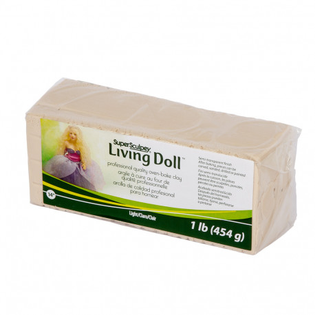 Светло-бежевый, Super Living Doll полимерная глина Sculpey 454 г