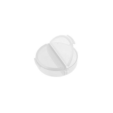 Контейнер круглый 2ячейки d5,5см h1,8см пластик GAMMA