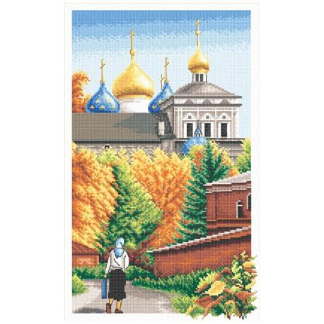 Дорога к храму, набор для вышивания крестиком, 22х37см, 30цветов Panna