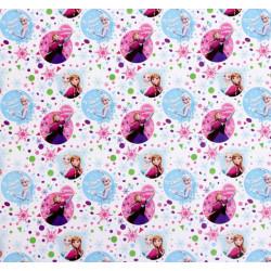 С Днем Рождения Холодное сердце, глянцевая бумага упаковочная 50х70см SL