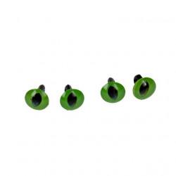 Зеленый, глаза кошачьи пластиковые на ножке d10мм 4шт Efco