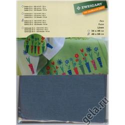 Канва Belfast 32ct. 100%лен 48х68см цвет №578 голубая ель ZWEIGART