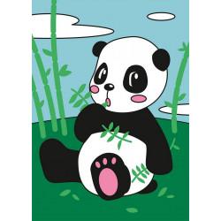 Панда, набор для раскрашивания цветным песком 16,5х23см Hobbius