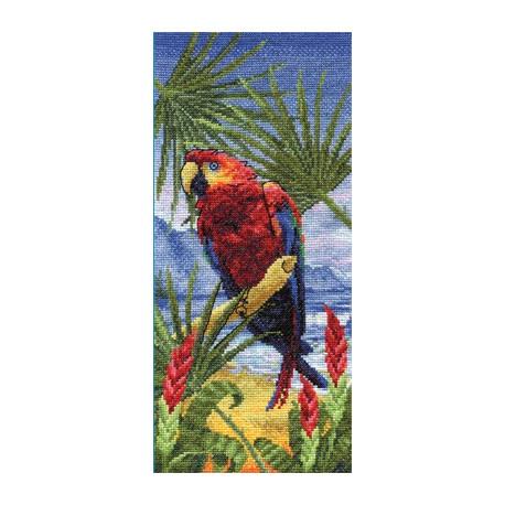 Пальмовый рай, набор для вышивания крестиком, 15х32см, 32цветов Panna