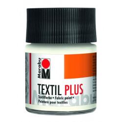 Белый, краска для темных тканей акриловая 50мл Marabu Textil Plus краска по ткани +t!