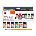 Набор красок акриловых для темных тканей 6х15мл Marabu Textil Plus краска по ткани +t!