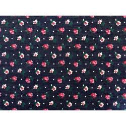 Цветок-5 синий-красный, ткань джинс FD 48х50см 60%хлопок 40%полиэстер
