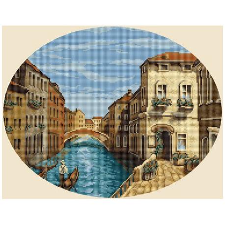 Утро Венеции, набор для вышивания крестиком, 35х28см, 29цветов Panna