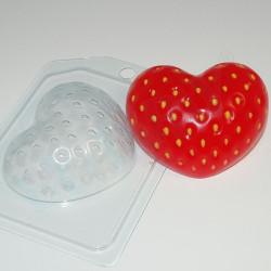 Клубничное сердце, пластиковая форма для мыла XD