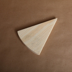 Доска кусочек сыра, заготовка для декорирования 20х15х1,5см сосна 3,7см NZ