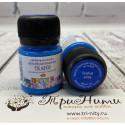 Голубая флуоресцентная краска по ткани акриловая 20мл Decola +t!