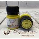 Желтая перламутровая краска по ткани акриловая 20мл Decola +t!