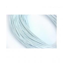 Серебро, канитель жёсткая 0,9мм 2 метра
