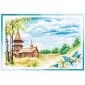 Летний день, набор для вышивания крестиком, 36х25см, 36цветов Panna