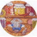 Домовой-хранитель очага, набор для вышивания крестиком, 24х24см, 30цветов Panna
