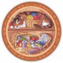 Домовой-помощник по хозяйству, набор для вышивания крестиком 24х24см 30цветов Panna