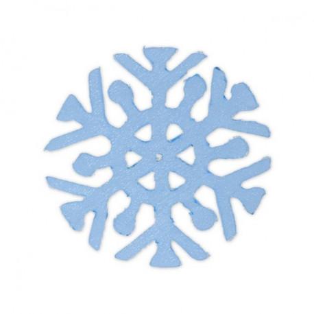 Снежинка синий, 6х6см аппликация на клеевой основе