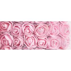 Светло-розовый, роза из фоамирана 20х20мм букет 12шт