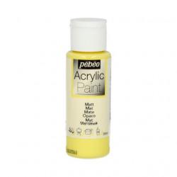 Светло-Желтый краска акриловая матовая 59мл Pebeo +t!